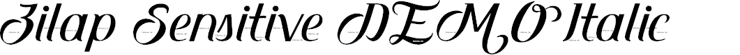 Preview image for Zilap Sensitive DEMO Italic