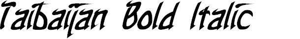 Preview image for Taibaijan Bold Italic