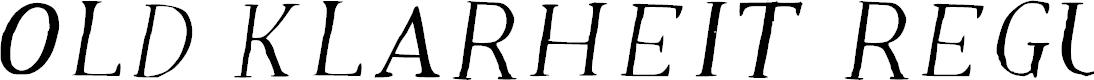 Preview image for Old Klarheit Regular