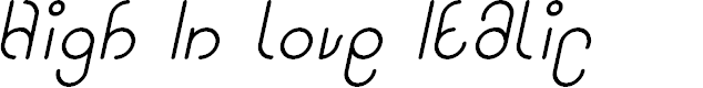 Preview image for High In love Italic
