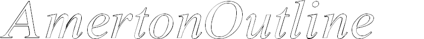Preview image for Amerton Outline Italic
