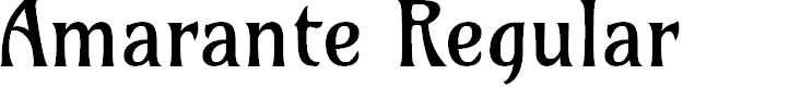 Preview image for Amarante Regular