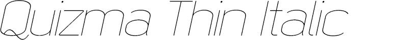 Preview image for Quizma Thin Italic Demo