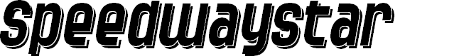 Preview image for SF Speedwaystar Shaded Italic