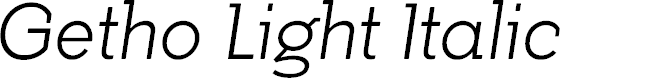 Preview image for Getho Light Italic