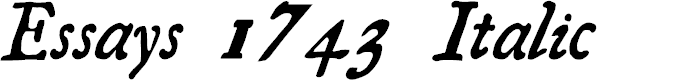 Preview image for Essays 1743 Italic