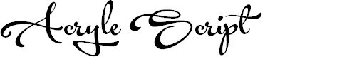 Preview image for Acryle Script Personal Use