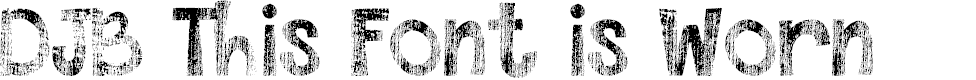 Preview image for DJB This Font is Worn