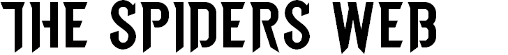 Preview image for THE SPIDERS WEBFONT