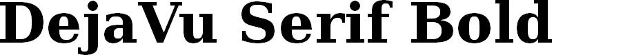 Preview image for DejaVu Serif Bold