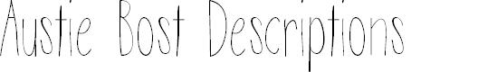 Preview image for Austie Bost Descriptions