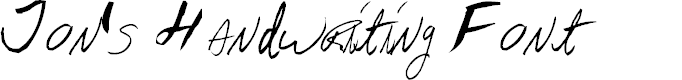 Preview image for AEZ Jon's Handwriting
