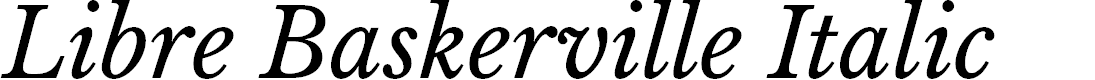 Preview image for Libre Baskerville Italic