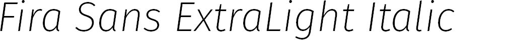 Preview image for Fira Sans ExtraLight Italic
