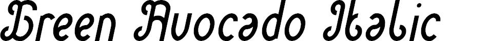 Preview image for Green Avocado Italic