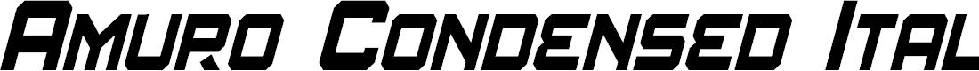 Preview image for Amuro Condensed Italic