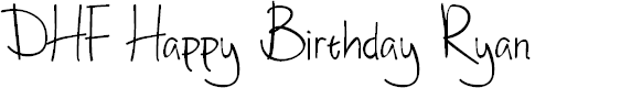 Preview image for DHF Happy Birthday Ryan