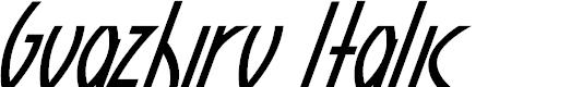 Preview image for Guazhiru Italic