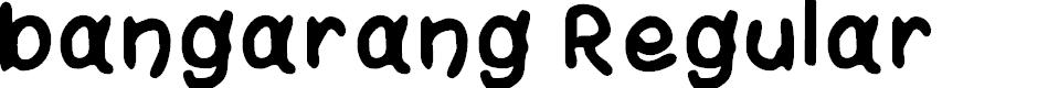 Preview image for bangarang Regular