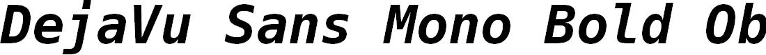 Preview image for DejaVu Sans Mono Bold Oblique