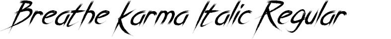 Preview image for Breathe Karma Italic Regular