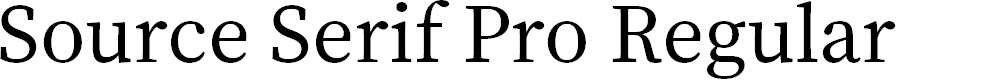 Preview image for Source Serif Pro Regular