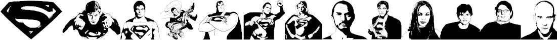 Preview image for Superman Last son of Krypton Super Font