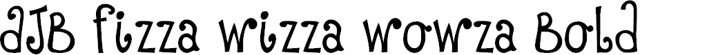 Preview image for DJB Fizza Wizza Wowza Bold Font
