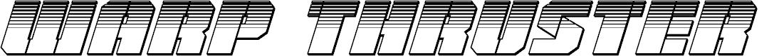 Preview image for Warp Thruster Platinum Italic