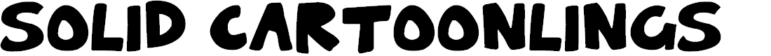 Preview image for Solid Cartoonlings Font