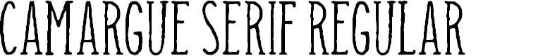Preview image for Camargue Serif Regular