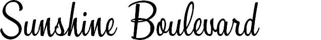 Preview image for Sunshine Boulevard Personal Use Font