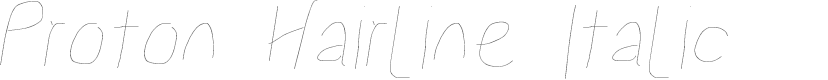 Preview image for Proton Hairline Italic