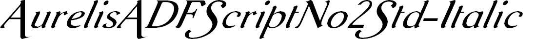 Preview image for AurelisADFScriptNo2Std-Italic