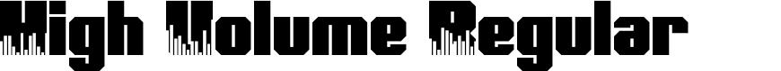 Preview image for High Volume Regular Font