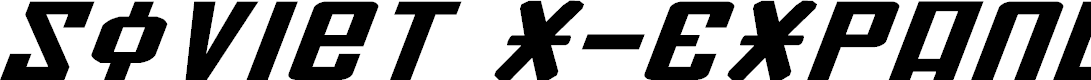 Preview image for Soviet X-Expanded Italic