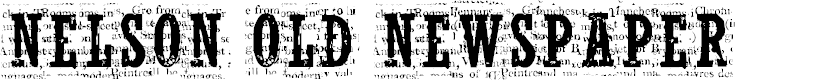 Preview image for CF NelsonOldNewsPaper Regular Font