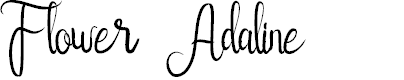 Preview image for Flower Adaline Font