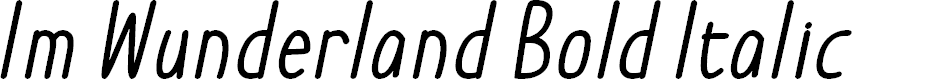 Preview image for Im Wunderland Bold Italic
