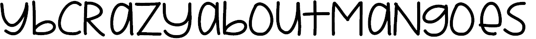 Preview image for YBCrazyAboutMangoes Font
