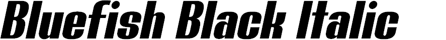 Preview image for Bluefish Black Demo Italic
