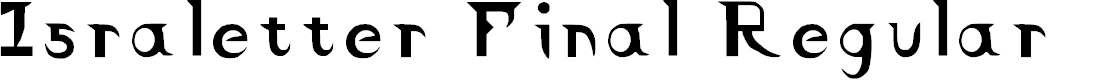 Preview image for Israletter Final Regular Font