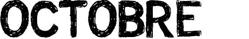 Preview image for CF Octobre Regular Font