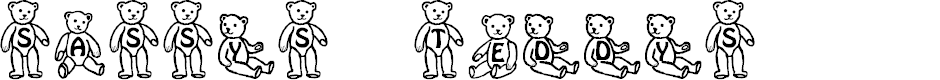 Preview image for Sassys Teddys 1 Font