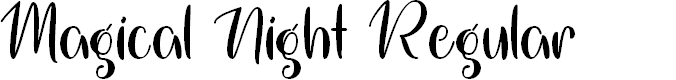 Preview image for Magical Night Regular Font