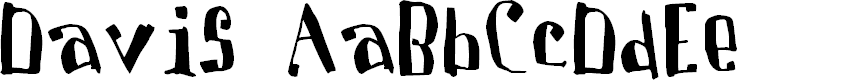 Preview image for Davis Font