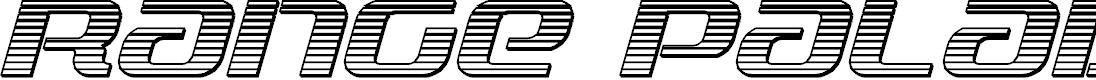 Preview image for Range Paladin Chrome Italic