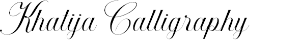 Preview image for Khatija Calligraphy Font