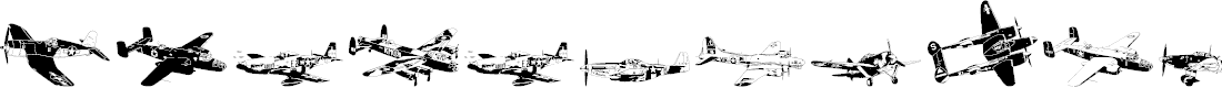 Preview image for WW2 Aircraft Font