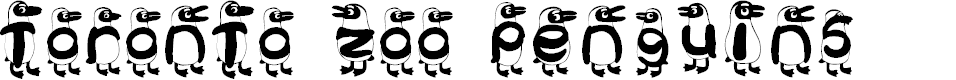 Preview image for Toronto Zoo Penguins Font